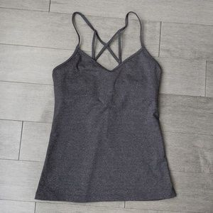 ALO yoga gray workout tank top built in bra XS